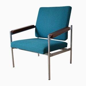 Dänischer Sessel aus Chrom und Teak von Kay Bæch Hansen für Fritz Hansen. 1976