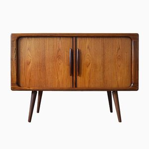 Rosewood Record Cabinet with Tambour Doors from Dyrlund, 1960s