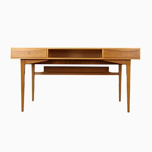German Ash Veneer Desk by Behr, 1950s