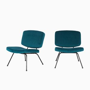 CM190 Chairs by Pierre Paulin for Thonet, 1950s, Set of 2
