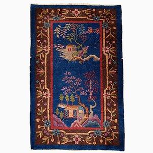 Chinesischer Hangefertigter Vintage Teppich, 1920er