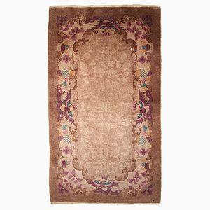 Hangefertigter Chinesischer Vintage Teppich, 1920er