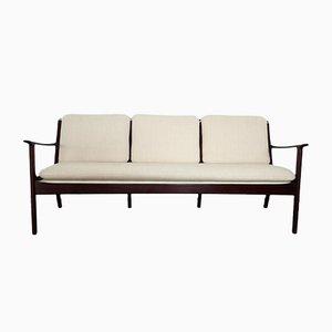 PJ 112 Dreisitzer Sofa von Ole Wanscher für Poul Jeppesen, 1951