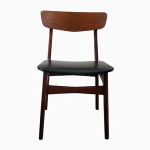 Mid-Century Danish Teak & Leatherette Chair from Findhal Mobelfabrik