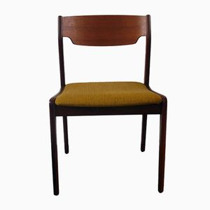 Mid-Century Danish Chair with Mustard Upholstery