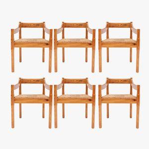 Carimate Stühle von Vico Magistretti für Cassina, 1960er, 6er Set