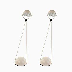 Lampes de Bureau en Métal par Stefano Cevoli pour Vermezzo, 1980, Set de 2
