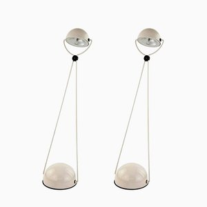 Tischlampen aus Metall von Stefano Cevoli für Vermezzo, 1980, 2er Set