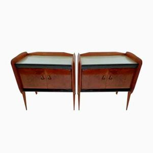 Mid-Century Italian Rosewood Nightstands, Set of 2