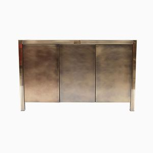 Three Door Brass Credenza from Belgo Chrom, 1980s