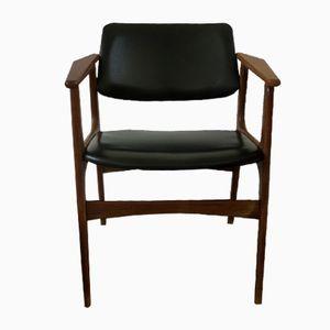 Mid-Century Leatherette Armchair