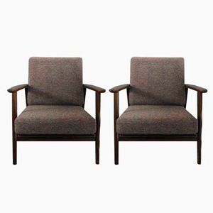 Mid-Century GE 233 Easy Chairs by Hans J. Wegner for Getama, Set of 2
