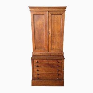 Vintage French Oak & Brass Cabinet