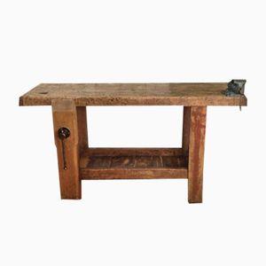 Vintage French Beechwood Workbench