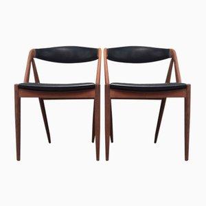 Dänische Mid-Century Teak Stühle von Kai Kristiansen für Schou Andersen, 1960er, 2er Set