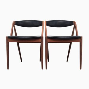 Mid-Century Danish Teak Chairs by Kai Kristiansen for Schou Andersen, 1960s, Set of 2