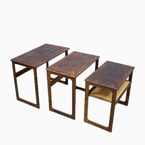 Tables Gigognes Vintage par Johannes Andersen & Illum Wikkelso pour CFC Silkeborg