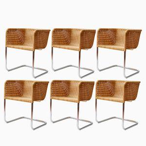 Chaises de Salon Cantilever D43 de Texta, Set de 6