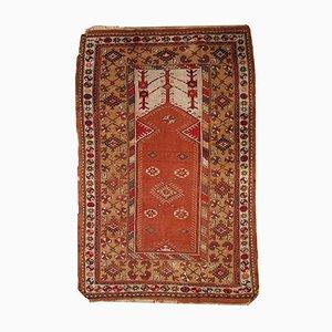 Türkischer Vintage Melas Gebetsteppich, 1920er