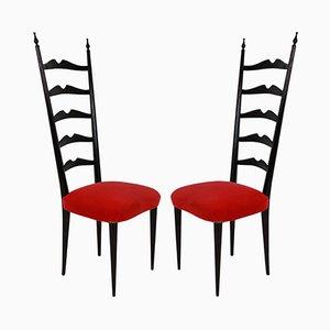 Flur Stühle von Paolo Buffa, 1940er, 2er Set