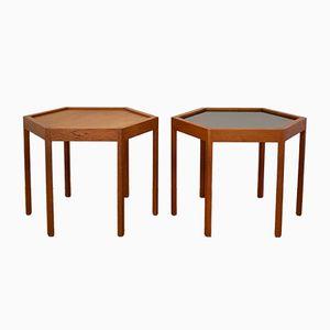 Tables d'Appoint par Hans C. Andersen pour Artex, Danemark, 1960s, Set de 2