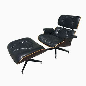 670 Lounge Chair and 671 Ottoman by Charles & Ray Eames for Herman Miller, 1980s