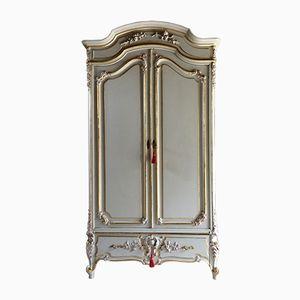 Grande Armoire Antique avec Miroir Doré, France