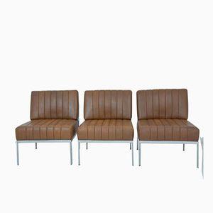 Chaises Vintage de Knoll, Set de 3