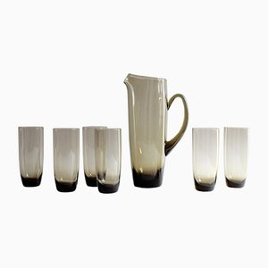 Mid-Century Juice Jug with 6 Glasses