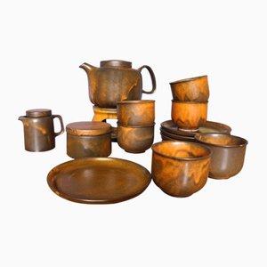 Brutalistisches Kaffeeservice von Heisterholz Keramik, 1970er