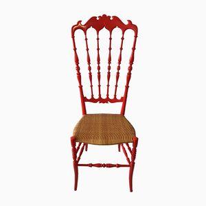 Roter Vintage Chiavari Stuhl