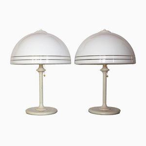 Lampes de Chevet Vintage de Wessel-Herford, Set de 2