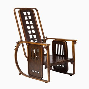 Sitzmaschine Armchair by Josef Hoffmann for J.& J. Kohn, 1908