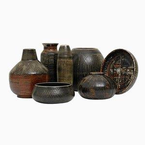 Fünf Vasen und Zwei Schalen von Carl Harry Stålhane für Rörstrand, 1960er