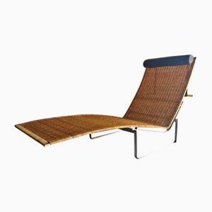 Vintage Chaise Longue aus Gebürstetem Stahl