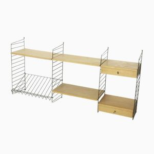 Swedish Ash Wall Unit by Nisse Strinning for String, 1970s