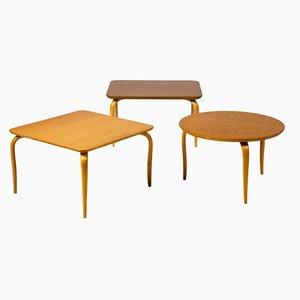 Tables d'Appoint par Bruno Mathsson pour Firma Karl Mathsson, Set de 3