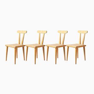 Chaises de Salon par Franciszek Aplewicz pour ŁAD, 1960s, Set de 4