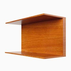 Teak Wall Shelf by Walter Wirtz for Wilhelm Renz, 1960s