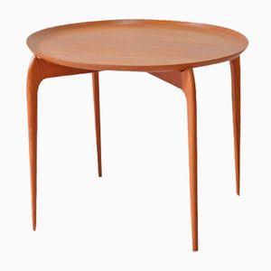 Tavolino con vassoio in teak di Engholm & Willumsen per Fritz Hansen, anni '60