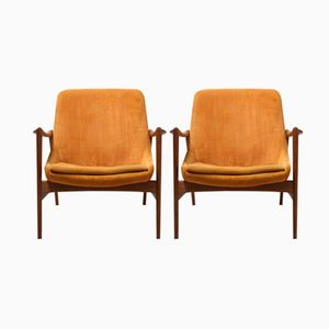 Vintage Easy Chairs by Rastad & Relling for Dokka Møbler, Set of 2
