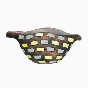 Scodella in ceramica smaltata di Raymor, Italia, anni '70