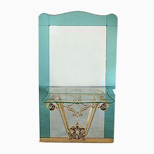 Italienischer Flur Spiegel mit Konsole von Pier Luigi Colli