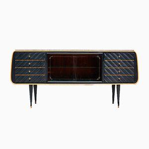 Italienisches Furnier Sideboard mit Granit Tischplatte, 1950er