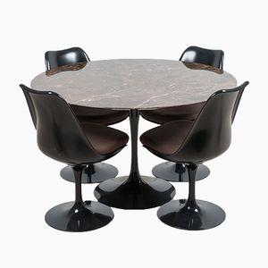 Table de Salle à Manger Tulip en Mabre par Eero Saarinen pour Knoll International