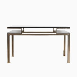 Brushed Aluminum Console Table, 1970s