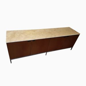 Walnut & Marble Sideboard by Florence Knoll for Knoll, 1970s