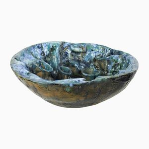 Maltese Ceramic Sculpture Bowl by Gabriel Caruana, 2001