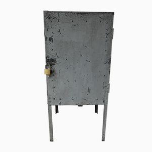 Industrial Steel Cabinet on Legs with Door, 1960s