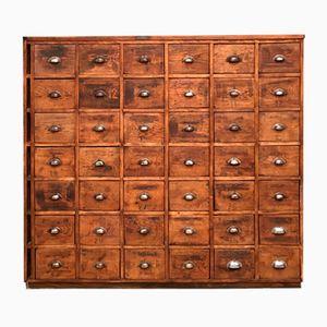 Industrial Wooden Tool Cabinet, 1940s